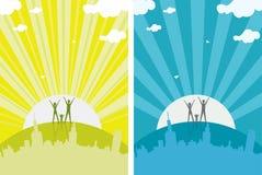 Milieux de lever de soleil Images libres de droits