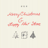 Milieux de Noël réglés Photo libre de droits