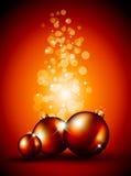 Milieux de Noël avec les babioles renversantes Photographie stock libre de droits