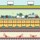 Milieux de parallaxe pour l'ensemble 22 de jeux vid illustration libre de droits