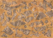 Milieux en bronze de texture de feuille d'or photographie stock libre de droits
