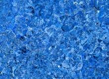 Milieux en cristal bleus de soulagement Images libres de droits