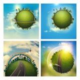 Milieux environnementaux abstraits illustration stock