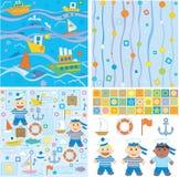 Milieux et éléments de conception pour le bébé Image libre de droits