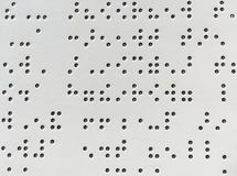 Milieux et textures de bstract de fond de code de Braille Photo stock