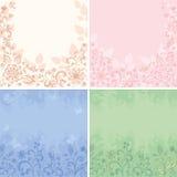 Milieux floraux abstraits réglés Images stock