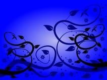 Milieux floraux bleus Photographie stock