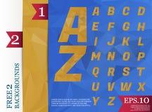 Milieux géométriques d'alphabet polygonal de Crystal Font polychromes Photographie stock libre de droits