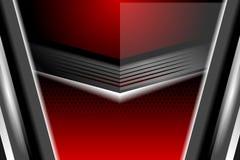 Milieux géométriques de rouge de style Images stock