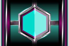 Milieux géométriques métalliques élégants Images stock