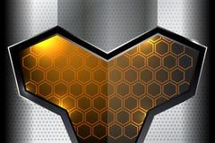 Milieux géométriques métalliques Photos stock