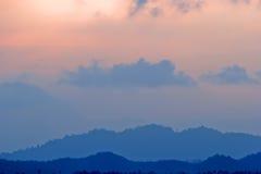 Milieux malaisiens de coucher du soleil Photo libre de droits