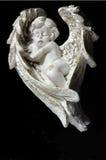 Milieux noirs endormis d'ange Photo stock