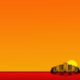 Milieux oranges de ville Images libres de droits