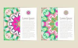 Milieux ornementaux floraux de vecteur abstrait Image stock