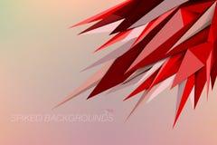 Milieux pointus de couleurs rouges Image libre de droits