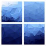 Milieux polygonaux de vecteur Ensemble de modèles colorés de vecteur dans le style géométrique Illustration de Vecteur