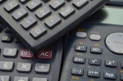 milieux scientifiques électroniques de calculatrices Photos stock