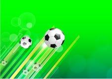Milieux verts du football illustration stock