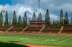 Mililani High School Stadium. Mililani HS football stadium, home of the Mililani Trojans, located in Central Oahu, Hawaii Stock Photography