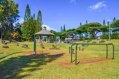 Mililani Mauka Outdoor Gym royalty free stock image