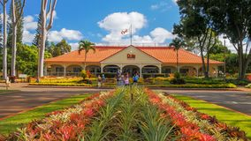 MILILANI, UNITED STATES OF AMERICA - JANUARY 12, 2015: the dole pineapple plantation in hawaii. MILILANI, UNITED STATES OF AMERICA - JANUARY 12, 2015: a view of stock photos
