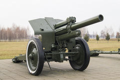 Milimitrovaya 122 howitzer during World War II. 1938 production Stock Photos