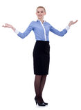 Miling business woman welcoming Royalty Free Stock Image