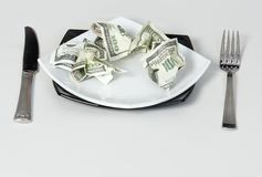 Milionário da riqueza dos dólares do dinheiro Foto de Stock