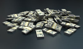 Milion dollars Stock Photo