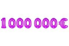 Milion euro, purpura kolor Zdjęcie Royalty Free