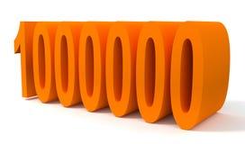 milion jeden Zdjęcie Stock