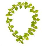 Milion serce elipsy drzewnych ram zdjęcia royalty free