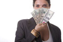 Milionaire woman Royalty Free Stock Photo