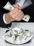 Milionario di ricchezza dei dollari dei soldi Immagine Stock