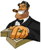 Milionario felice con il sigaro Fotografia Stock
