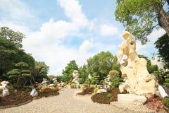 Milione anni di parco di pietra, Pattaya Tailandia 05-May-2013 Immagini Stock Libere da Diritti