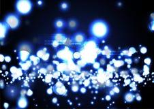 Milione backgroun moderni tecnologici di effetto della luce al neon della lucciola Fotografia Stock