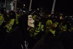 Milione maschere marzo a Londra Fotografia Stock Libera da Diritti