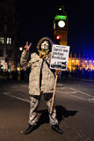 Milione maschere marzo a Londra Immagini Stock Libere da Diritti