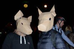 Milione maschere marzo a Londra Immagine Stock Libera da Diritti