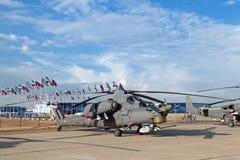 Milipulgada estrago de Mi-28 (nombre de la información de la OTAN ?') Imagen de archivo