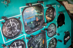 Milirary plane control panel Stock Photos