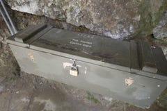 Militäröversikter på Aareschlucht, Schweiz Royaltyfria Bilder