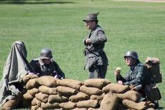 Militärövning Arkivbilder