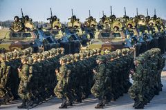Militärübung stockfotografie