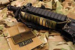 militär 13 stoppar Arkivbilder