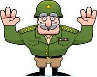 Militär allmän kapitulation för tecknad film Fotografering för Bildbyråer
