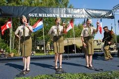 Militär arméshow arkivbild