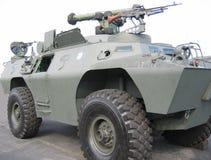 Militär - Becken mit Maschinengewehr Stockfoto